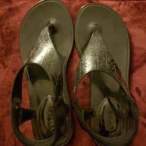 Calvin Klein Sandals Size 7 Jillian Model Blac